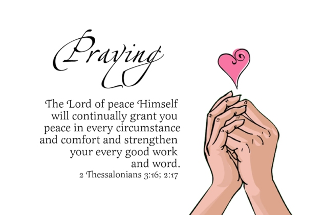 2 Thessalonians 3:16; 2:17